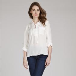 Белоснежная блузка из вискозы BL 947