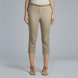Укороченные брюки из хлопка бежевого цвета TR 011