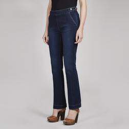 Красивые джинсы темно-синего цвета TR 197
