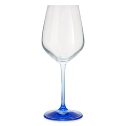 Бокал для вина на ножке синего цвета BLUE STEM WINE GLASS 22,4*9,3 (Blue)