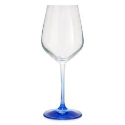 Бокал для вина на ножке синего цвета BLUE STEM WINE GLASS 22,4*9,3 (Blue)