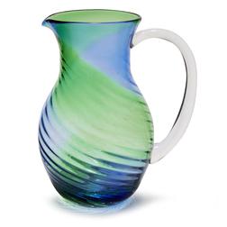 Стеклянный кувшин в сине-зеленой гамме TEXTURED JUG 20*15,5*45 (Seaspray)