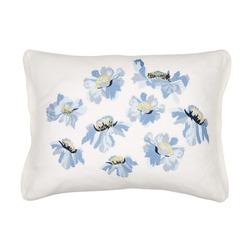 Декоративная подушка с вышивкой цветов RUNSWICK 40*50 (Seaspray)