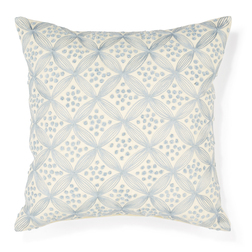 Квадратная подушка с вышивкой голубого цвета LARKIN 40*40 (Seaspray)