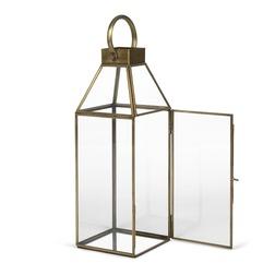 Высокий подсвечник из металла и стекла LANTERN EFFECT 46*16 (Brass)