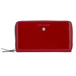 Стильный лаковый  кошелек красного цвета на молнии SL 361