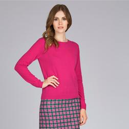 Кашемировый свитер ярко-розового цвета с пуговицами сзади JP 461
