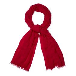 Изящный легкий шарф красного цвета SH 441