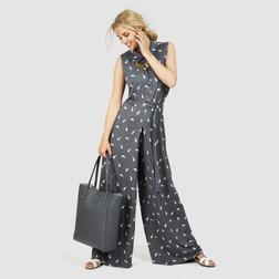 Стильный комбинезон юбка-брюки серого цвета MD 741