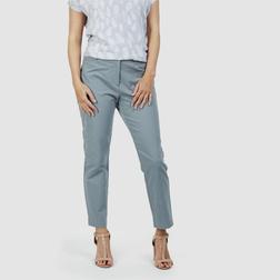 Стильные брюки классического зауженного кроя, серо-голубого цвета TR 211