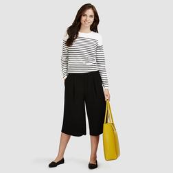 Стильные брюки-кюлоты черного цвета TR 227