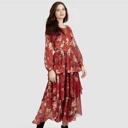 Великолепное многослойное платье с длинным рукавом MD 628