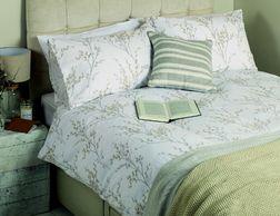 Двойной набор постели в веточки весенней вербы PUSSY WILLOW DB 200*200, 50*75 set of-2 (Dove Grey)