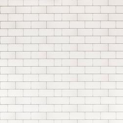 Виниловые обои с имитацией белой плитки TILES (White)