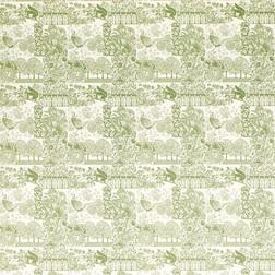 Обои для стен со светло-зеленым рисунком птиц и растительности PATCHAM (Hedgerow)