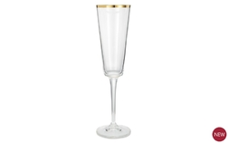 Бокал для шампанского с золотой каемочкой RIM CHAMPAGNE FLUTE 23,6*6,5 (Gold)