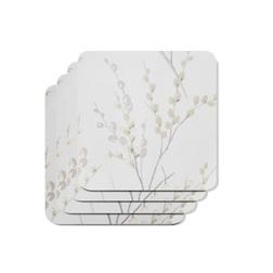 Набор подставок для чашки PUSSY WILLOW SET OF 4 COASTERS 10*10 (Dove Grey)