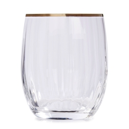 Прозрачный стакан с серебристой каемочкой RIM OPTIC TUMBLER 9,7*8,4 (Silver)