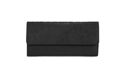 Классический  кошелек черного цвета с оригинальным принтом из 100% кожи SL 368
