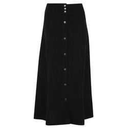 Красивая юбка на кнопках черного цвета MS 597 Black
