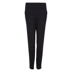Очень стильные брюки слимы темно синего цвета в большую клетку коричневого цвета TR 306