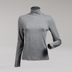 Красивая водолазка серого цвета из вискозы TS 228