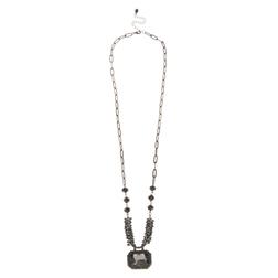 Элегантное ожерелье черного цвета JW 522