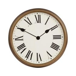 Настенные часы в бронзовой раме SAVOY WALL  37*37*6 (Brass)