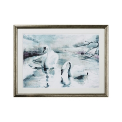Картина с лебедями SWAN SCENE FRAMED 60*47 (Multi)