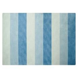 Полосатый ковер из натуральной шерсти LEANDER 140*200 (Seaspray)