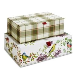 Набор ярких картонных коробок WOODLAND SCENE SET OF 2 41*28*12,5 (Multi)