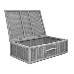 Широкая корзина из ротанга RATTAN UNDERBED STORAGE BOX 43,5*73*19,5 (Grey)