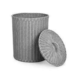 Корзина для белья светло-серого цвета RATTAN LAUNDRY BASKET 42*49 (Grey)
