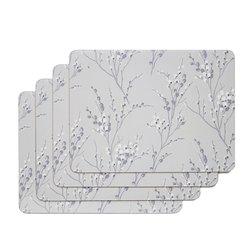Набор прямоугольных подставок под посуду PUSSY WILLOW SET OF 4 PLACEMATS 30*23 (Dove Grey)
