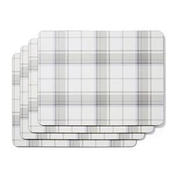 Набор прямоугольных подставок под посуду с рисунком «клетка» HIGHLAND SET OF 4  PLACEMATS 30*23 (Gre