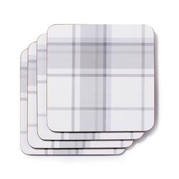 Набор подставок под чашку с рисунком «клетка» HIGHLAND SET OF 4  COASTERS 10,5*10,5 (Grey)