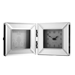 Рамка для фото с часами BLOCK CLOCK FRAME 15,8*12,5*4,8 (Mirror)