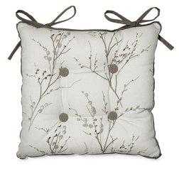 Мягкая сидушка с рисунком весенней вербы PUSSY WILLOW 40*40 (Dove Grey)