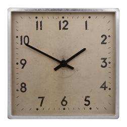 Настенные часы квадратной формы UNDERPASS WALL 45*45* 7 (Silver)