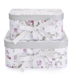 Набор коробок в цветы розы GRACE SET OF 2 12,5*25*30 (Amethyst)
