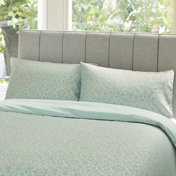 Набор постели с большим пододеяльником в голубые цветы ANNECY JACQUARD KG 230*220, 50*75 set of-2  (