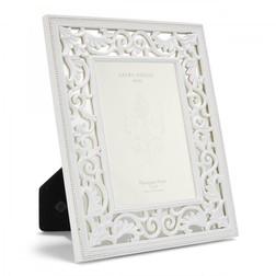 Рамка для фото с зеркальными элементами и белыми барельефами ROCOCO 20*25,5 (White)