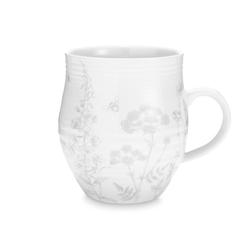 Чашка из керамики в цветы светло-серого цвета LISETTE 8*11,5 (Cream/Grey)