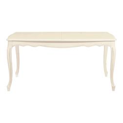Раскладной обеденный стол цвета слоновой кости PROVENCALE EXT DINING 76*161-206*95 (Ivory)