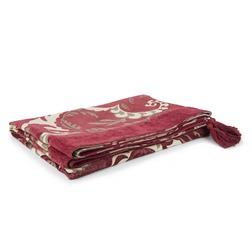 Жаккардовый плед с кисточками по бокам REGENT SCROLL 155*200 (Cranberry)
