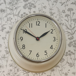 Круглые настенные часы кремового цвета NEWGATE COOKHOUSE WALL 35*35*10 (Cream)