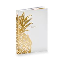 Блокнот для записей с изображением золотистого ананаса CANVAS A5 JOURNAL 15*21 (Copper)