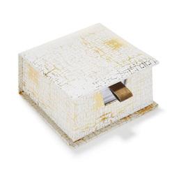 Коробка с листочками для записей CANVAS MEMO BLOCK 4,8*9*9 (Copper)