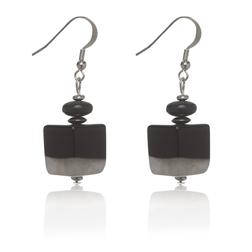 Элегантные серьги черного цвета JW 563