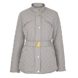 Красивая стеганая куртка бежево-серого цвета CT 140